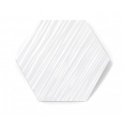 Hexagon WHITE MAT RELIEF