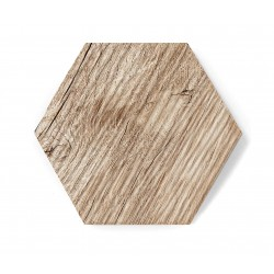 Hexagon WOOD MAT RELIEF