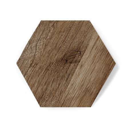 Hexagon DARK WOOD MAT