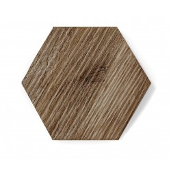 Hexagon DARK WOOD MAT RELIEF